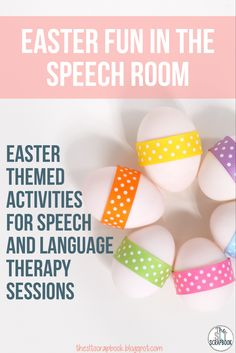 Easy Easter themed speech therapy ideas, includes a freebie!