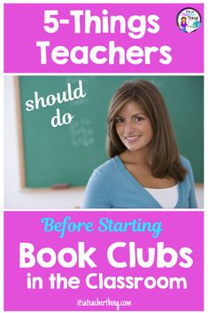 Classroom Book Clubs-Five Things To Do Before You Begin - It's a Teacher Thing Student Reading, Teaching Reading, Student Work, Student Success, Teaching Ideas, Reading Activities, Teaching Resources, Book Clubs, Book Club Books