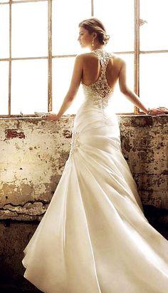 Brautkleid, Spitze, Rücken