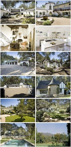 Reece Witherspoon's home in Ojai California. The previous owner was Kathryn Ireland, which is one of my favorite Designers. This house is really cool!