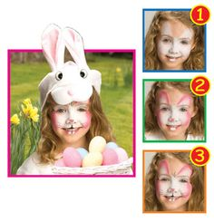 Snazaroo™ Face Painting: Easter Bunny #halloween #facepainting