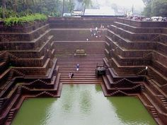 500 year old ancient Hindu Stepwell - Incredible India! #Indian #architecture #design भारत More