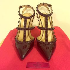 Valentino Rockstud Punkoture Patent Slingbacks Absolutely nothing wrong these, except a little wear on the bottoms from wearing them once. I have the original box, dust bag, and receipt. Like brand new! Valentino Shoes Heels