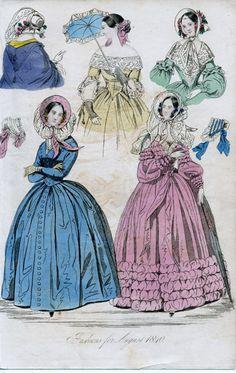 1850 Fashion | Fashions for August 1840