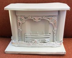 ANTIQUE METAL DOLLHOUSE FIREPLACE RESTORED #Unbranded