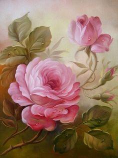 Risultati immagini per fiori su tela