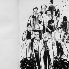 People from our country #sketchbook #blackandwhite #people #drawing