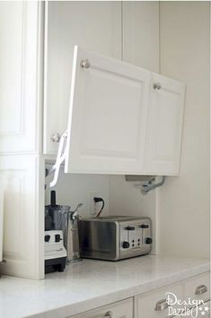 You will love all the Creative Hidden Kitchen Storage Solutions in this remodel!… You will love all the Creative Hidden Kitchen Storage Solutions in this remodel! Kitchen Storage Solutions, Diy Kitchen Storage, Home Decor Kitchen, Interior Design Kitchen, Kitchen Furniture, Smart Storage, Kitchen Organization, Hidden Storage, Organized Kitchen