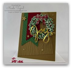 Joyful Wreath by nwt2772 - Cards and Paper Crafts at Splitcoaststampers