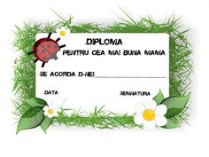diploma pentru cea mai buna mama | Cu Alex la gradinita 8 Martie, School Lessons, Diy And Crafts, Place Card Holders, Kids, Mai, Ladybugs, Living Room, Young Children