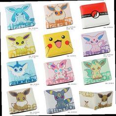 49.99$  Buy here - http://alixav.worldwells.pw/go.php?t=32708744086 - 10pcs Pikachu Pokemon mix Anima Children wallet girl boy Fold purses bag 12X10cm