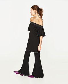 ZARA - WOMAN - FRILLED DRESS WITH TOPSTITCHING