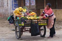 Pisco Peru. A woman at work, beautiful. :)