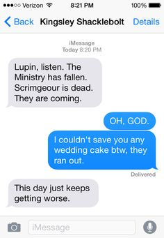 SparkLife » If Fictional Characters Could Text, PART FIVE
