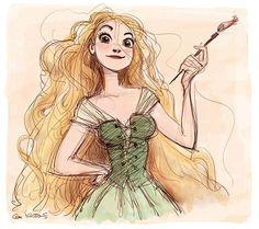 Tangled art character design, Rapunzel © Glen Keane