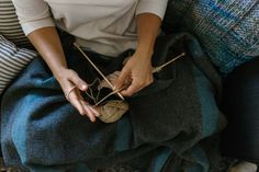wool days sitting on couch knitting patterns with scout yarn creamy caramel