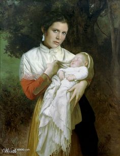 Princess Leia Organa in Bouguereau by Mandrak