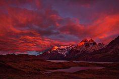 Patagonia Sunrise - Chile by Stuart Litoff #Patagonia #Sunrise #Mountains