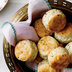 Easter Brunch Menu: Cornmeal-Chive Biscuits