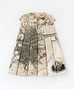 """""""Le Trèfle à 4 Feuilles et le Lutin Blanc"""", Dublin Ireland Historic City Plan map, rep. 1797 Signed and sealed E.L Elisabeth Lecourt, 2012"""