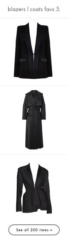 """blazers | coats favs 5."" by andressabrandao1 ❤ liked on Polyvore featuring outerwear, jackets, blazers, coats, tops, black, one-button blazer, alice olivia blazer, short-sleeve blazers and long blazer jacket"