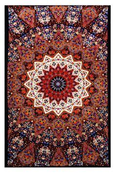 Sunshine Joy® Indian Dark Star Elephant Tapestry - Red & Blue - 60x90 Inches - Beach Sheet - Hanging Wall Art - 3D Reactive Artwork Sunshine Joy http://smile.amazon.com/dp/B002XUP4M4/ref=cm_sw_r_pi_dp_z95Itb1VDGW8H3XJ