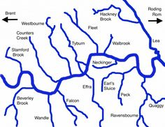 From Beverley Brook to Westbourne. Uk History, London History, British History, History Facts, Asian History, Strange History, Tudor History, London Map, London Places