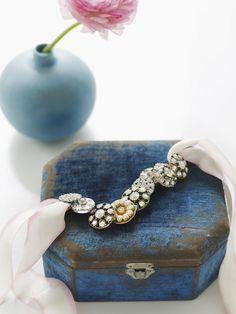 Bracelet made of vintage buttons.