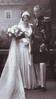 Their Serene Highnesses Prince Raphael Rainer and Princess Margarete of Thurn and Taxis. Married: May 24,1932