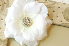 Bridal Flower Hair Clip http://www.facebook.com/pages/Lillyan-Lou