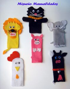 "Taller infantil ""títeres de dedo de fieltro"".  www.misuenyo.com / www.misuenyo.es"