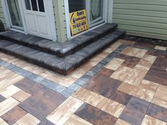 """Nicolock 6"""" Colonial Wall Steps w/ Granite City Blend Fullnose. Give us a call today @ 717-632-4074 or contact us online @ www.ryanslandscaping.com/contact"""