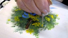 Floral techniques: free lesson of Decorative Painting by Ros Stallcup - ...part 1 of 2