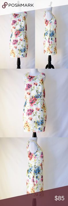 NWT Lipsy Mini Lace Dress in Multi Floral New with tag  Lipsy London White/floral All-over floral print Overlay detail Zip back Slim fit - cut close to the body Polyester Size 4 ( the tag says 6, but it runs small) Lipsy Dresses Mini