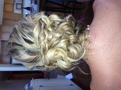 Wedding updo. I like the braid going across