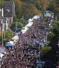 Started in 1981, it's now a mile of fun on College Avenue from Richmond to Lawes Street at this Wisconsin Oktoberfest near Green Bay.