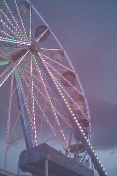 beautiful night time ferris wheel