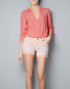 MAO COLLAR BLOUSE - Shirts - Woman - ZARA
