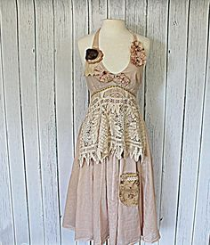 Upcycled Women's Clothing / Shabby Tattered by AmadiSloanDesigns