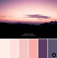 a mountain-sunset-inspired color palette