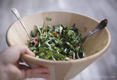 salad of asian greens with szechuan, sesame oil and lime dressing