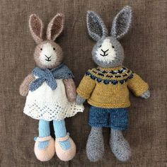 Two new Little Cotton Rabbits came to visit! #marjisyarncrafts #granbyct #bunnies #littlecottonrabbits