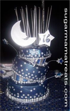 Sugar Mama NYC - Moon & Stars Cake