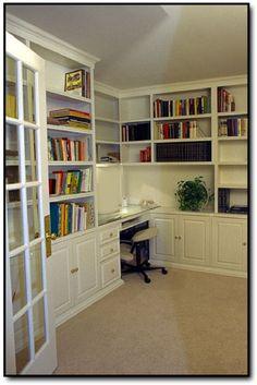 built in desk and cabinets | custom built home office desk
