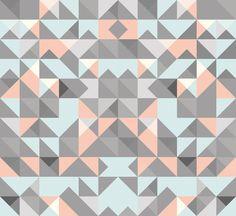 Triangular Pattern Art Print by Leandro Pita | Society6