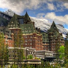 Banff Springs Hotel, Centre Block and South Wing, Banff, Alberta, Canada | by ecstaticist, via Flickr