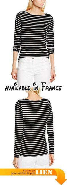 Betty Barclay Short, T-Shirt Femme, Multicoloured (Black/Cream), 44.  #Apparel #SHIRT