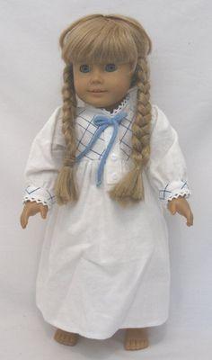 32079000d9 pioneer pajama gown outfit 18in doll American Girl Kirsten Caroline