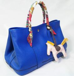 hermes garden party bag Light Blue Hermes Garden Party PM Tote ...