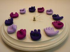 Unique Sign Language Clock  Telling Time in por SignLanguageHands, $120.00